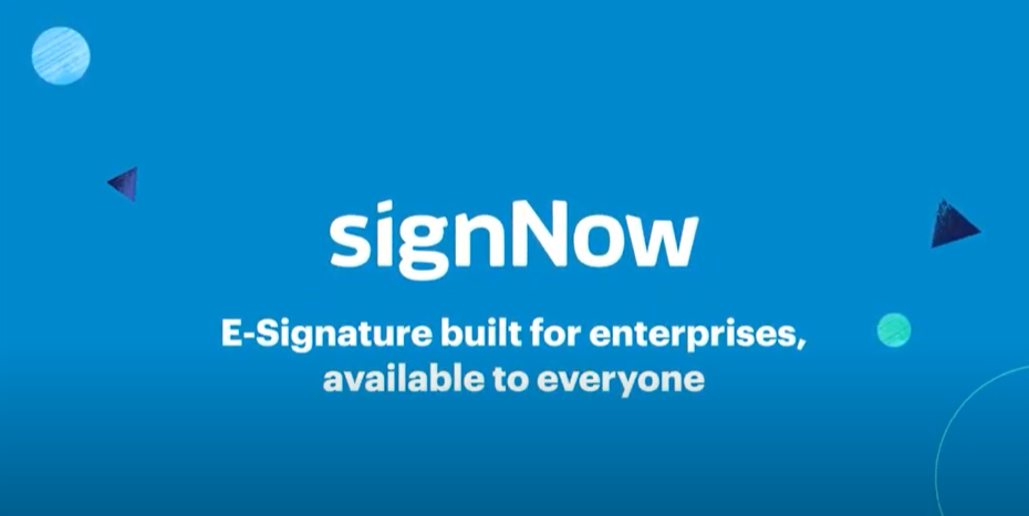Video for signNow