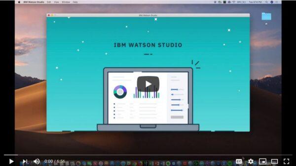 Video for IBM Watson Studio Desktop